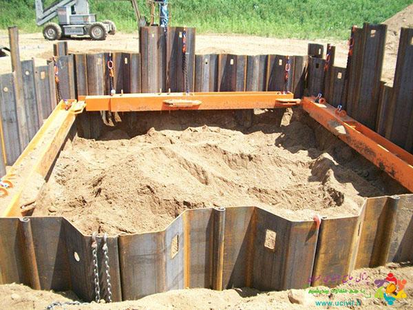 پایدارسازی گود با سپر فولادی