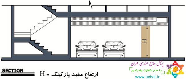 ارتفاع مفید پارکینگ مسکونی