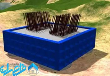 آرماتوربندی پی پل کابلی