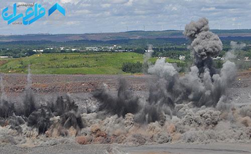 تراکم خاک با انفجار