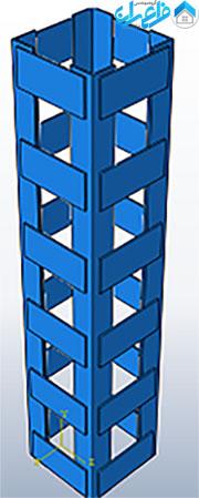 ژاکت فولادی با 6 ورق اتصال در هرطرف