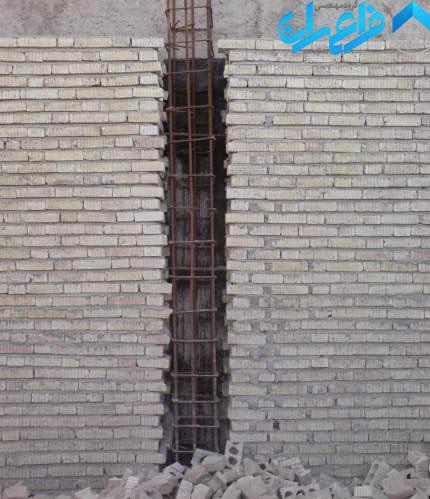 اجرای کلاف در ساختمان بنایی