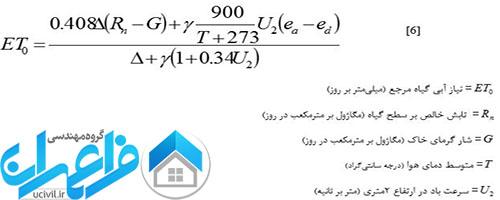 معادله نیاز آبی گیاه