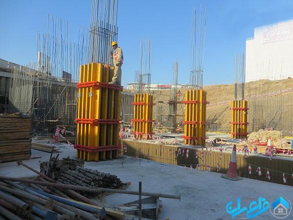ستون مربعی یا مستطیلی یکی از انواع ستون های ساختمان