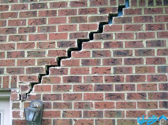 ترک دیوار آجری