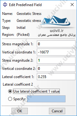 Geostatic Stress در اباکوس